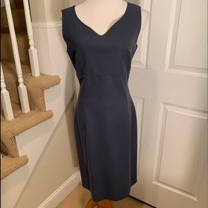 NWOT, tailored dress, gorgeous slate blue color